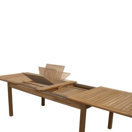 Calypso Extension Table Features Double Butterfly Extension Leaves That Flip Open To Extend Table Or Store Fold Teak Dining Table Dining Table Extension Table
