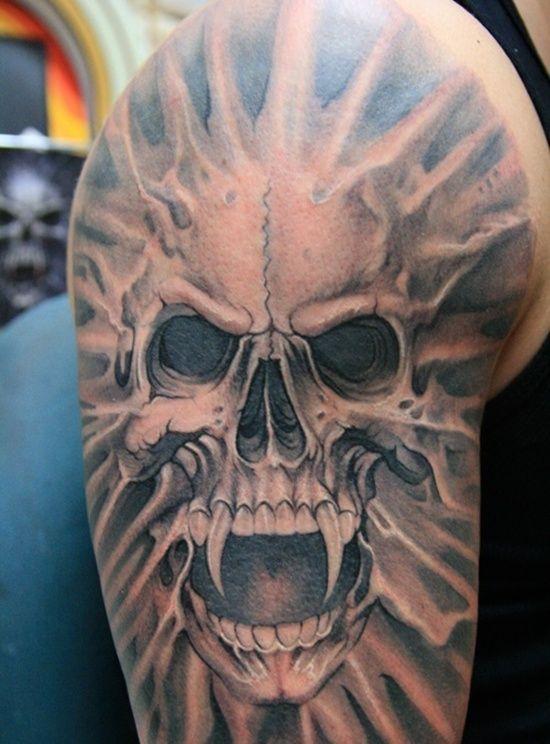 30 Classic Vampire Tattoo Designs Scary Tattoos Skull Sleeve Tattoos Skull Tattoo Design