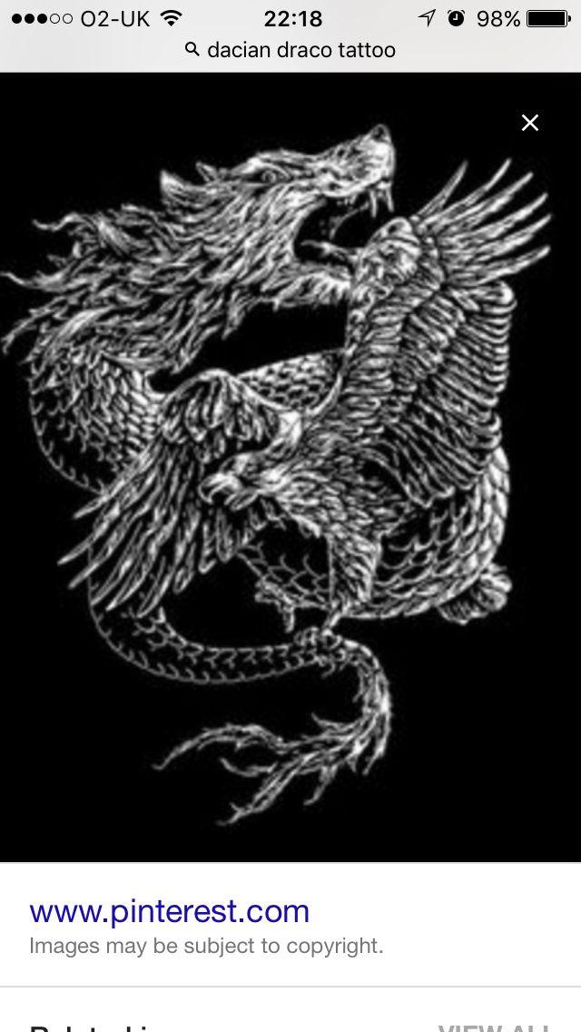 d01863a23 Dacian Draco and eagle   daci   Dragon wolf, Tattoos, Draco