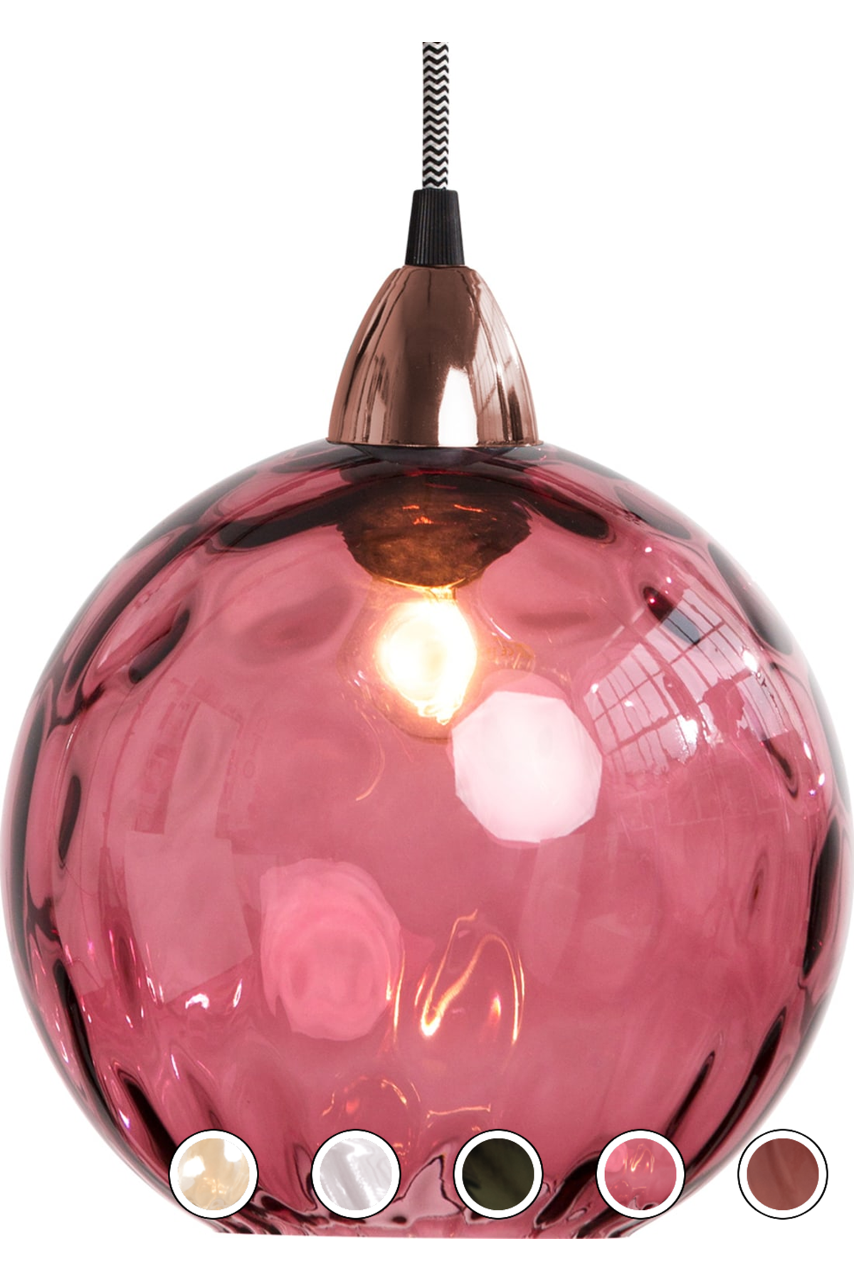 Made Pendant Shade Berry Red Express Delivery Glass Ilaria