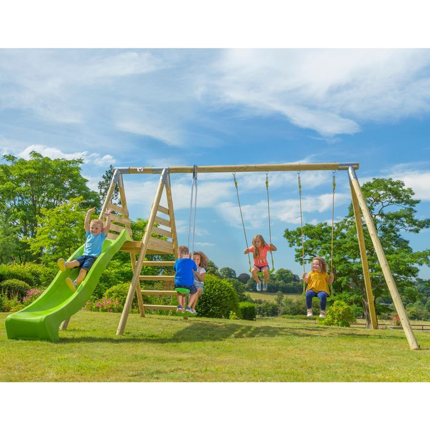 Kids will love playing outdoors with this TP Round Wood Multiplay ...