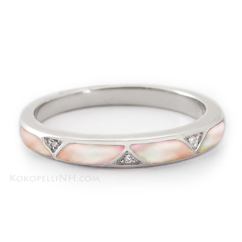 We Love The Feminine Look Of This Unique Wedding Band Moonlit Petal Page