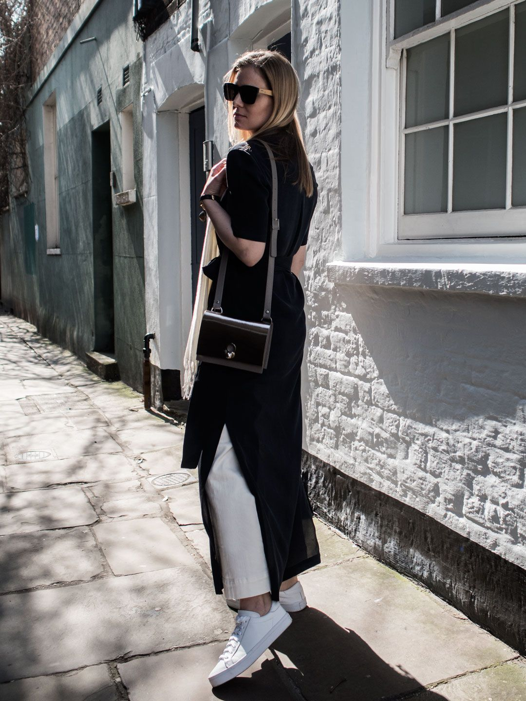 Dressing Up Jeans With A Marina London Dress | Style