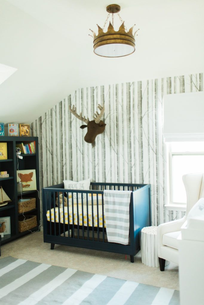 Vote september room finalists birch tree wallpaper project nursery and nursery