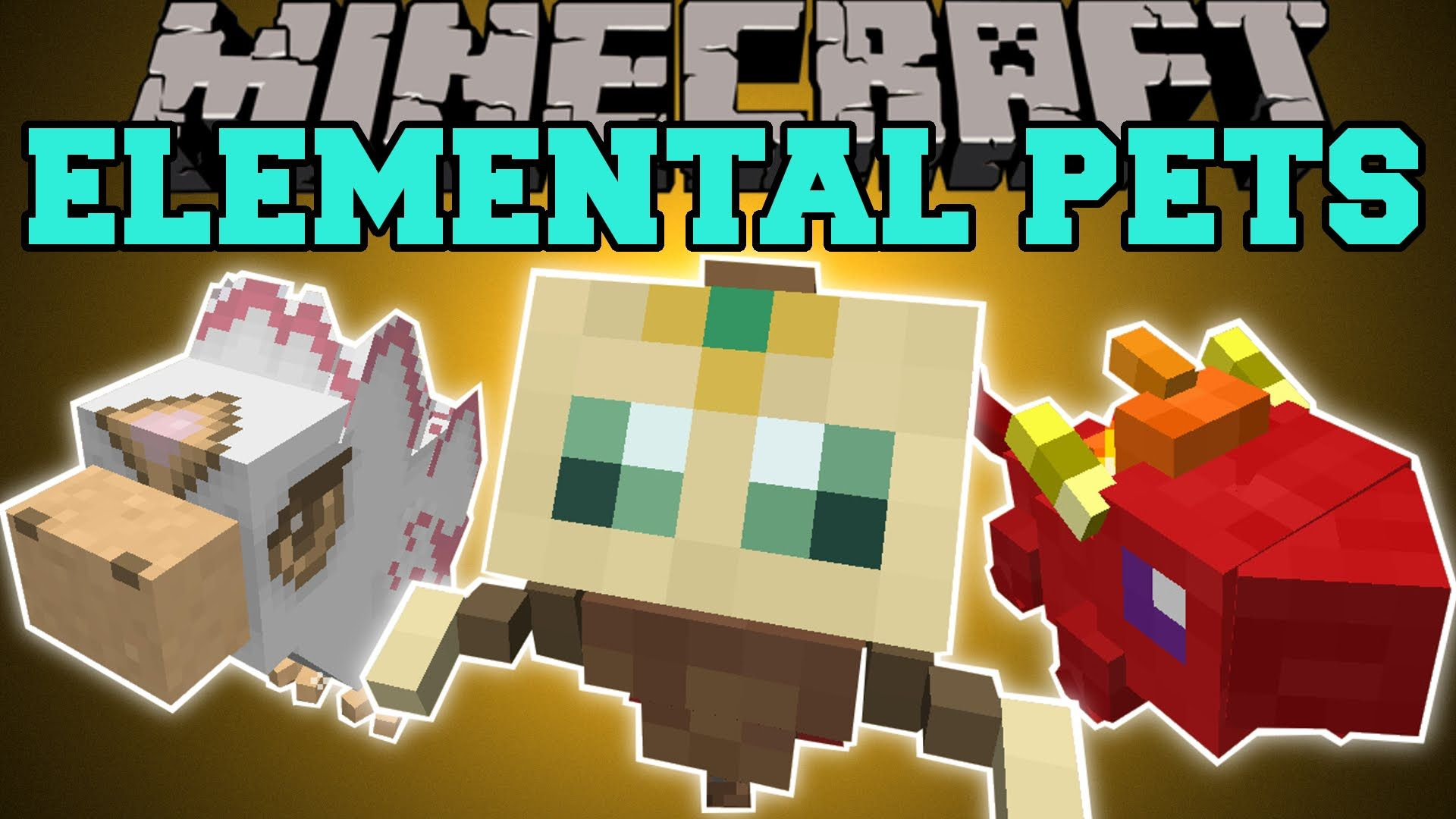 Minecraft Elemental Pets Baby Dragons Pheonix Guardian Mod