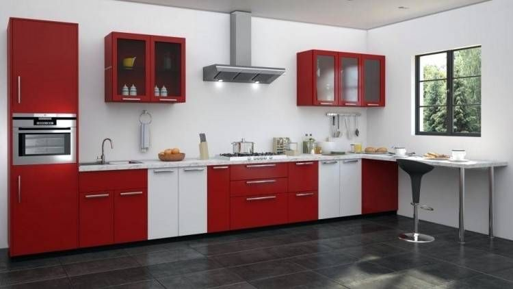Decorating Ideas For Red Kitchen White Kitchen Decor Red And White Kitchen Cabinets Kitchen Cabinet Design