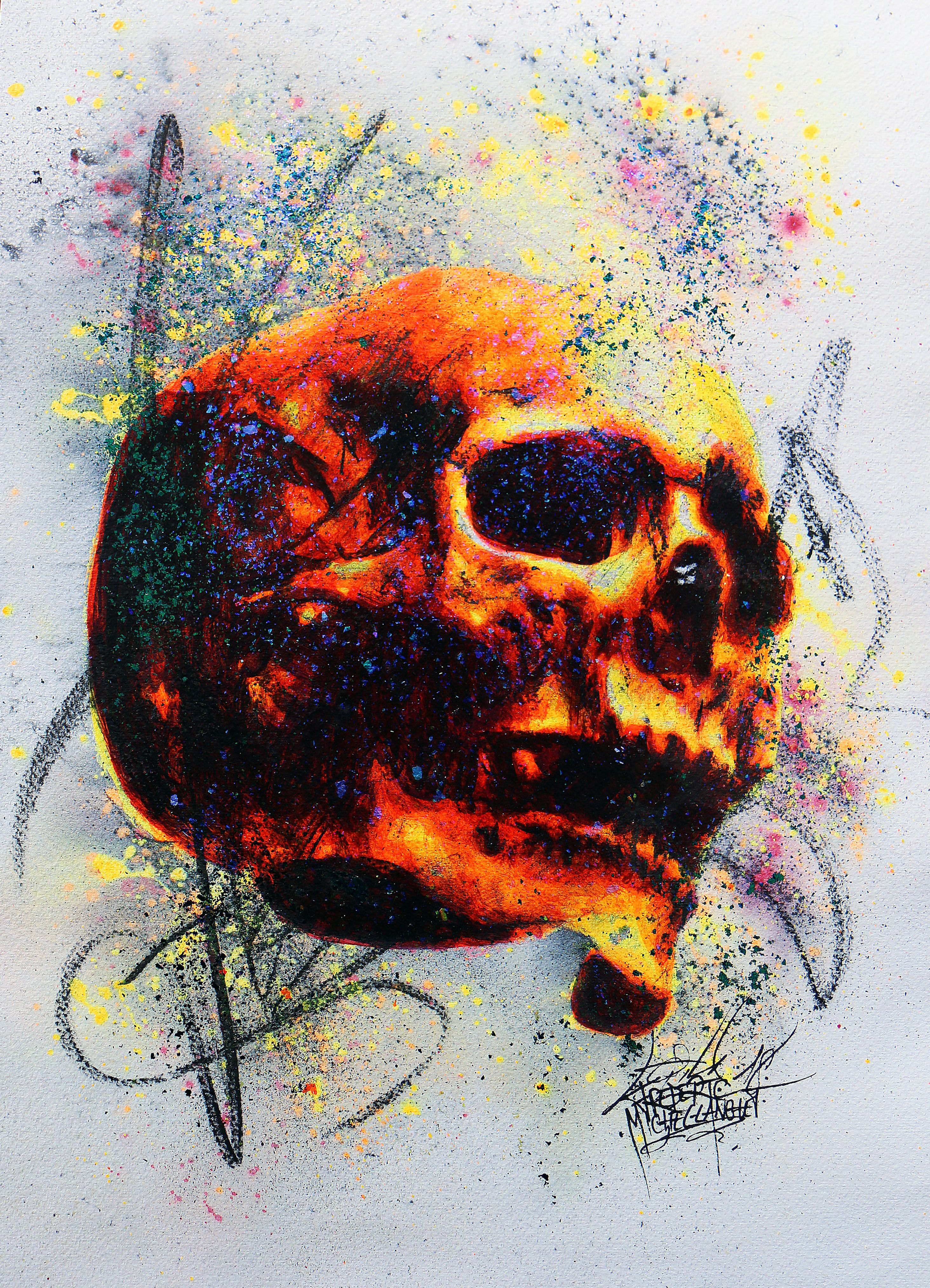 Skull Collection Stellar 52 X 42 Cm Portrait Art Sketch