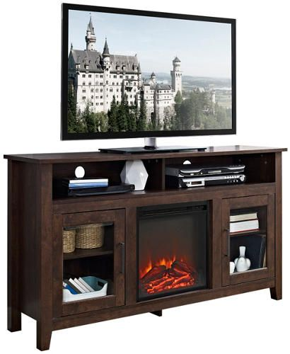 Pleasant Nico 58 Brown Fireplace Family Room Fireplace Tv Stand Download Free Architecture Designs Terstmadebymaigaardcom