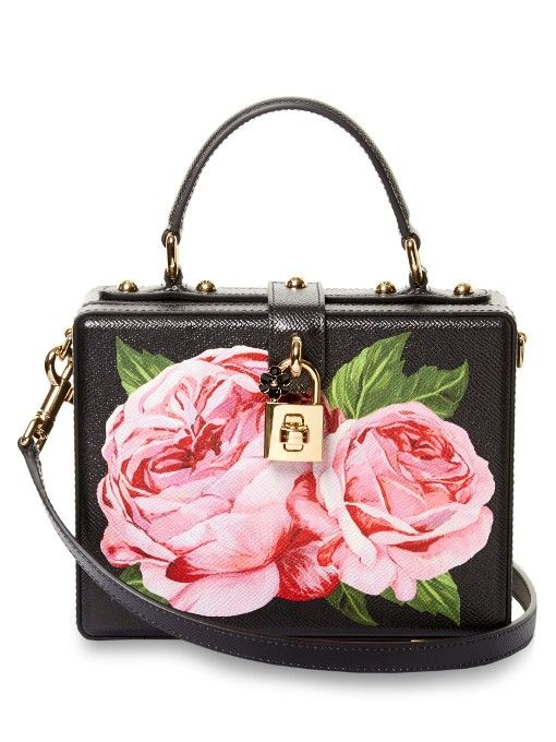 b1031ad1cb11 DOLCE   GABBANA Dolce Box Rose-Print Leather Bag.  dolcegabbana  bags   leather  charm  accessories