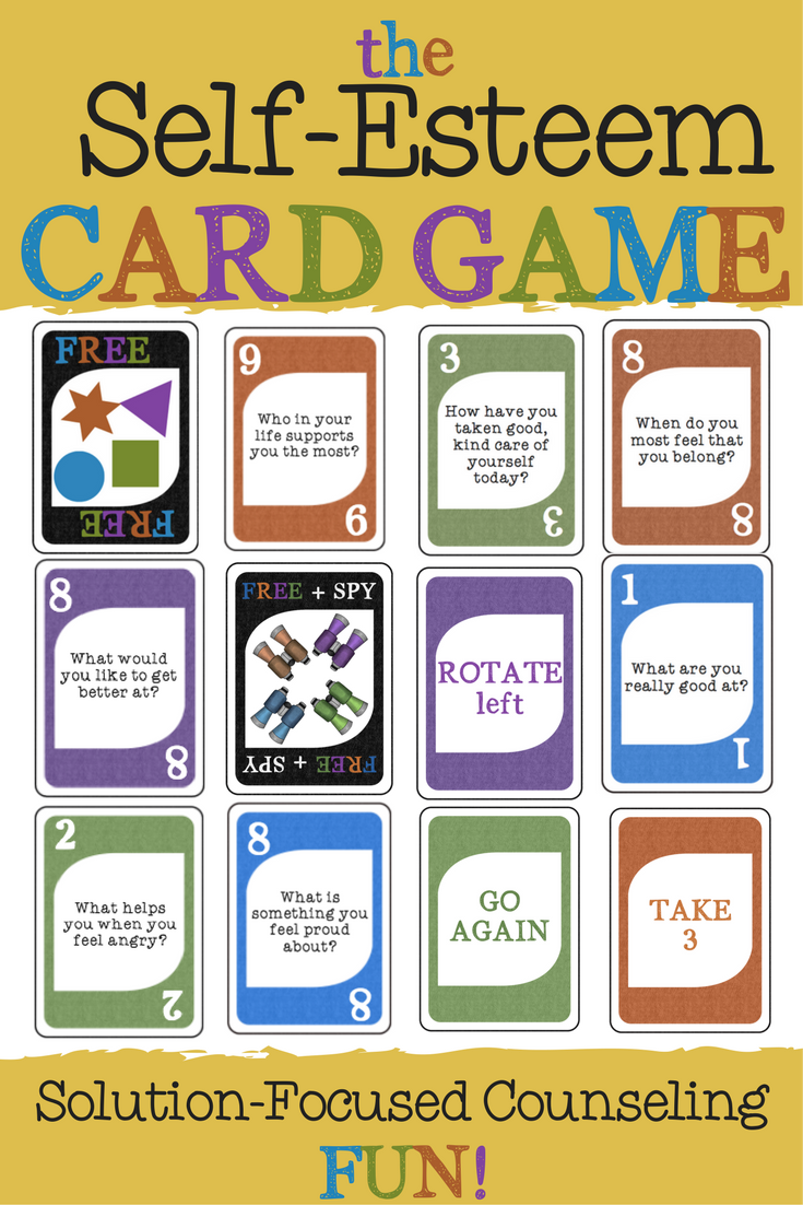 Fun Self-Esteem Card Game. Great Solution Focused Counseling Intervention.