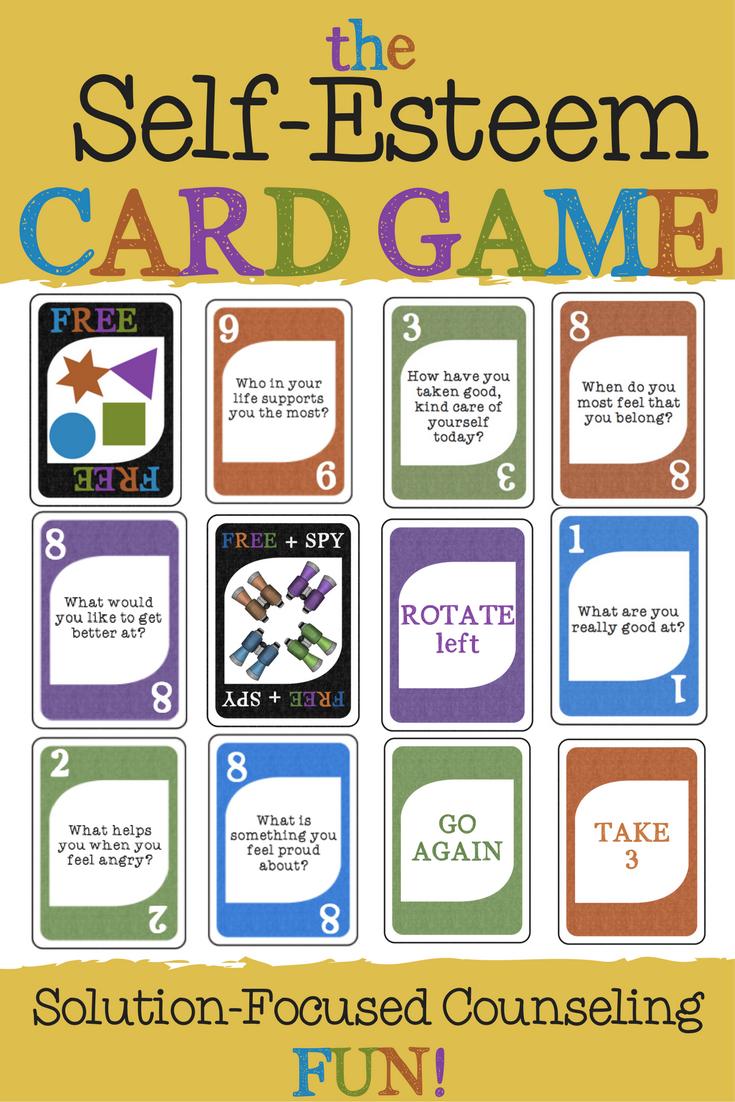 THE SELFESTEEM CARD GAME! Fun Solution Focused School