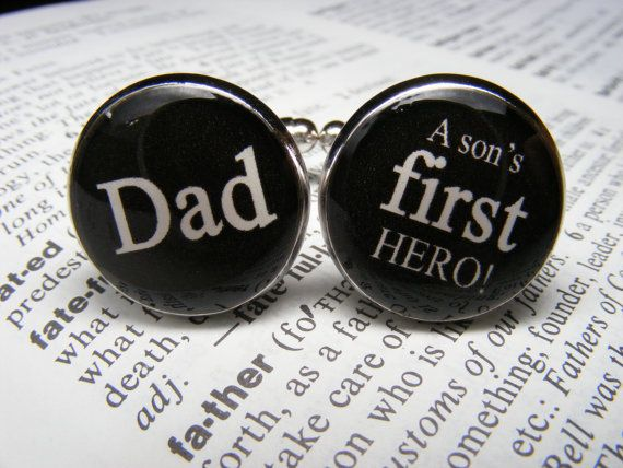 Dad a sons first hero Cufflinks  These cuff by UpscaleTrendz, $39.00