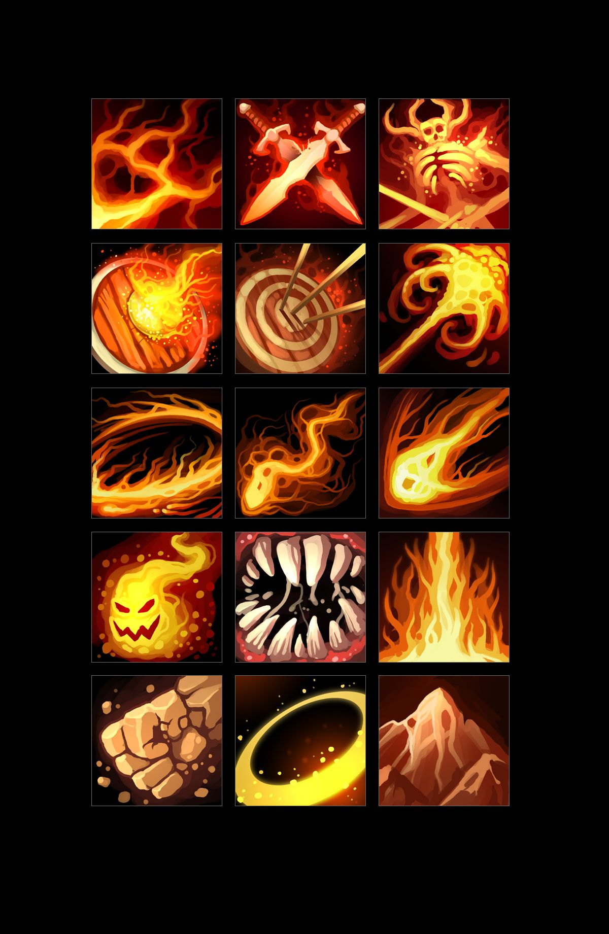 Rpg Skills Icons 01 Game Concept Art Graphic Design Fun Game Art