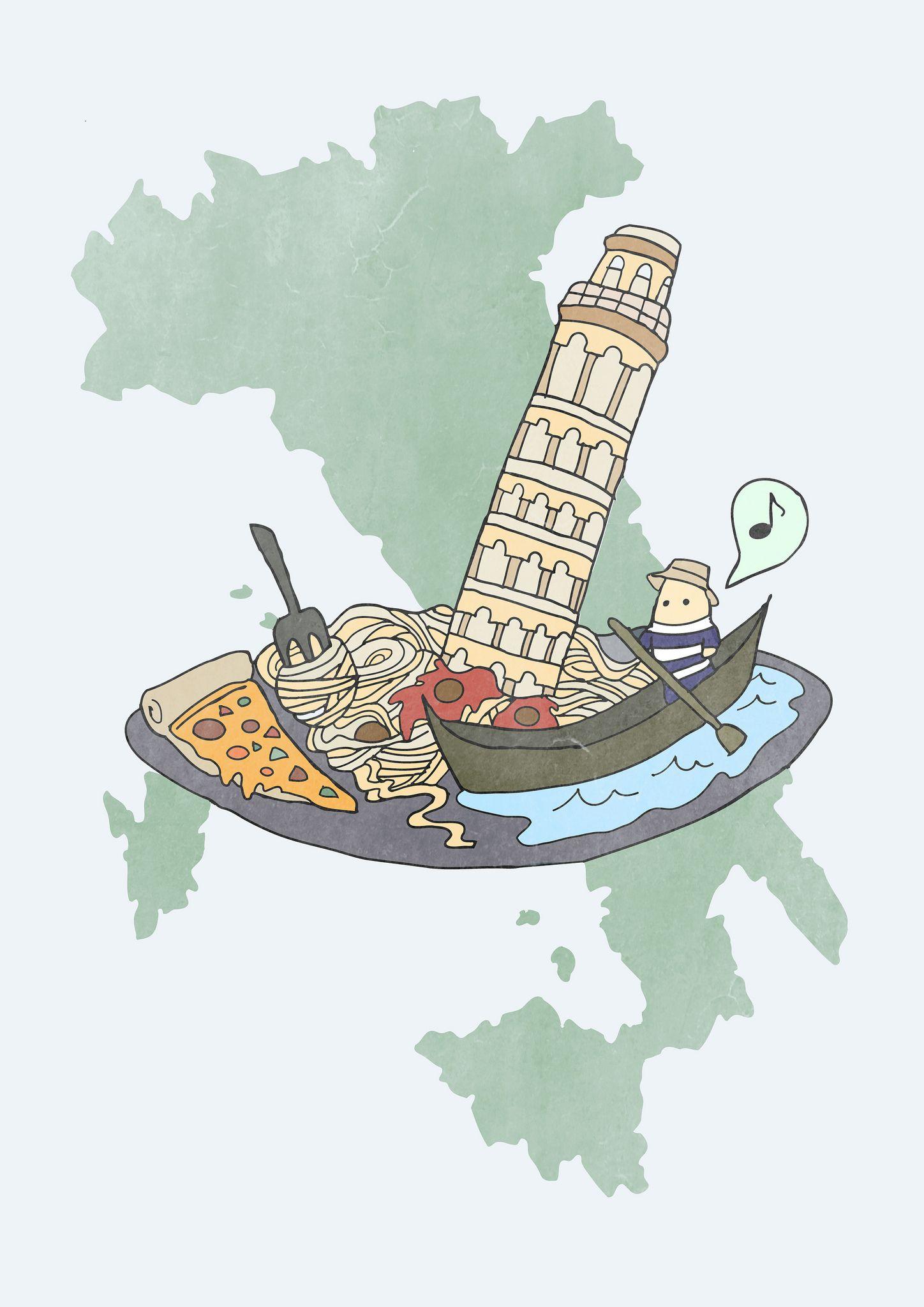 Самые популярные, картинки про италию для детей