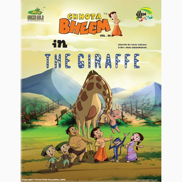 Chhota Bheem in The Giraffe One day, the king of Dholakpur, Raja - best of chhota bheem coloring pages games