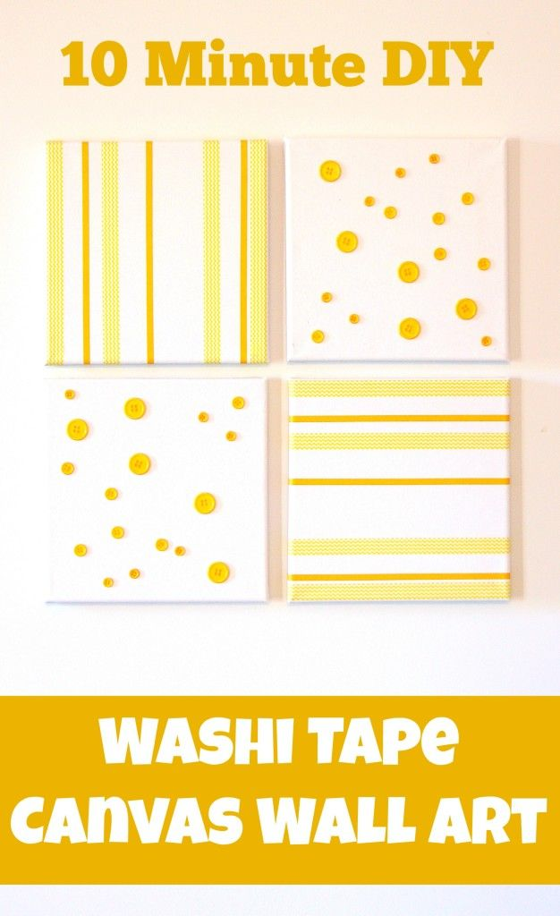 Washi Tape Canvas Wall Art {Create Your Own} - | Washi tape, Washi ...