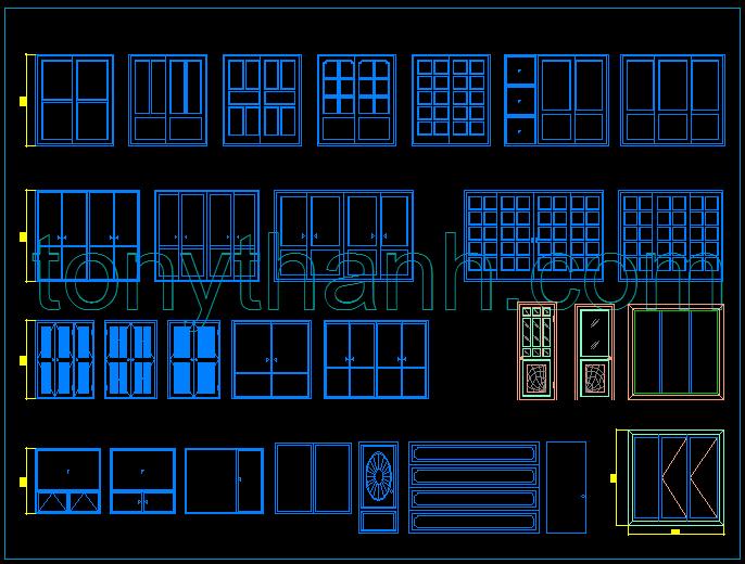 Tony hanh tons of free cad blocks design pinterest for Window design cad