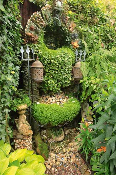 Secret Garden: The Poseidon Fountain In The Magic Garden, Wolverhampton