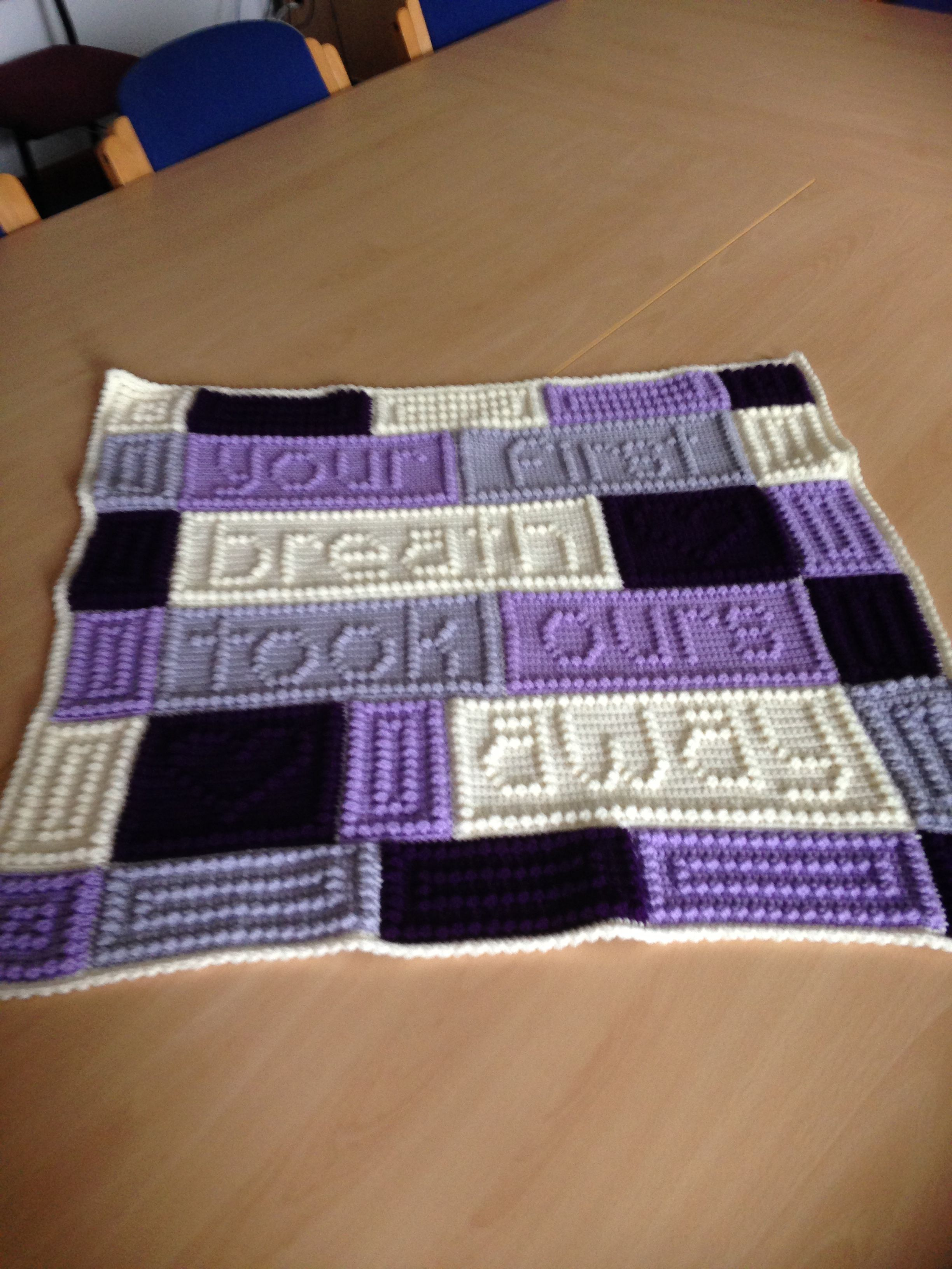 October\'s squares. Another 27 squares for a very special little man ...