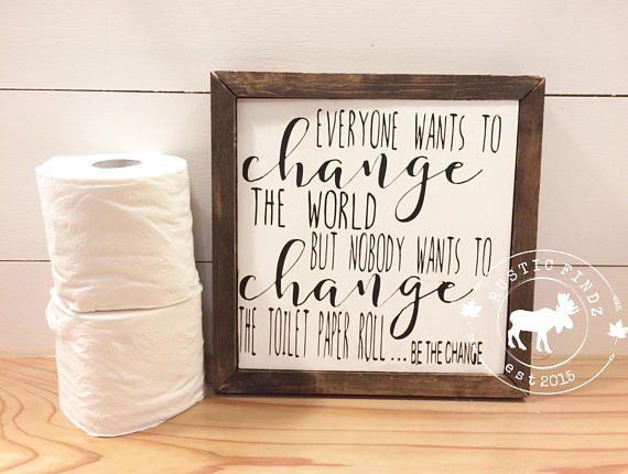Photo of Bathroom decor // Toilet Paper // Bathroom Wood Sign // Funny bathroom sign // Bathroom Sign // Bathroom wall decor // bathroom humor