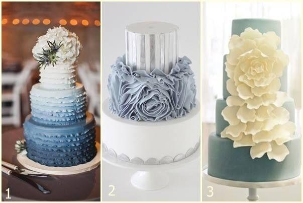 Siguiendo con la tendencia del celeste como el color nupcial de la primavera-verano del 2013 les mostramos las tortas de bodas más deliciosas en esta gama