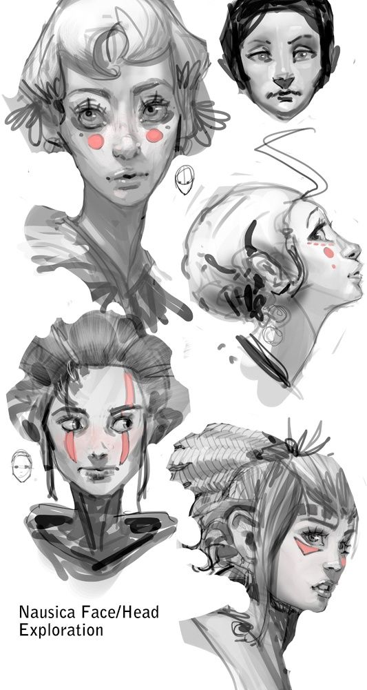 Sketch Woman Face Character Art Character Illustration Character Design References