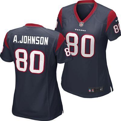 Houston Texans Andre Johnson #80 New NFL Official Women's Replica Game Jersey by Nike. http://tiny.cc/ytweew