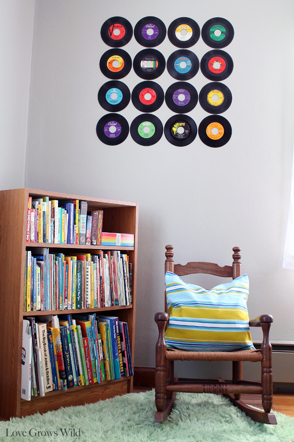 Hanging Records On Wall how to create a record wall | record wall, playrooms and walls