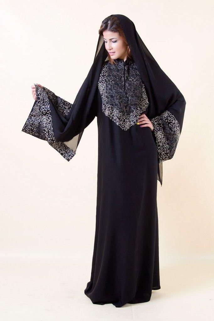 صور عبايات سعودية 2014 صور عبايات سودا مودرين 2014 Abaya Fashion Fashion Abaya Designs