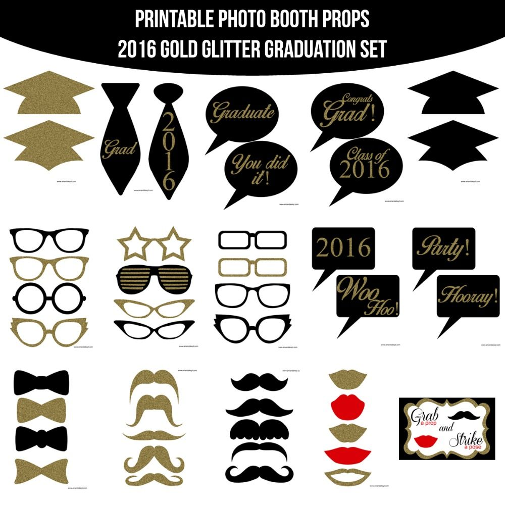 It's just a graphic of Mesmerizing Free Printable Graduation Photo Booth Props
