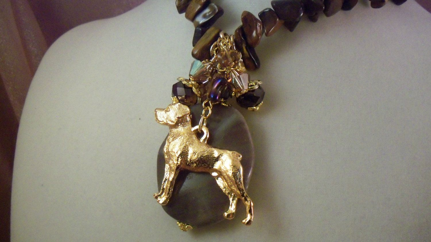 ROTTWIELER - Charm Necklace -o29 - Free Shipping - USA Art - Handmade by Artisan - Last One by HOBBYHORSELADY on Etsy