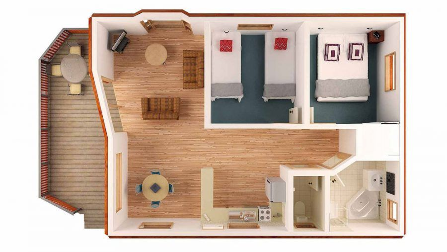 2BedroomTinyHousePlansDesign Craftsman bungalow