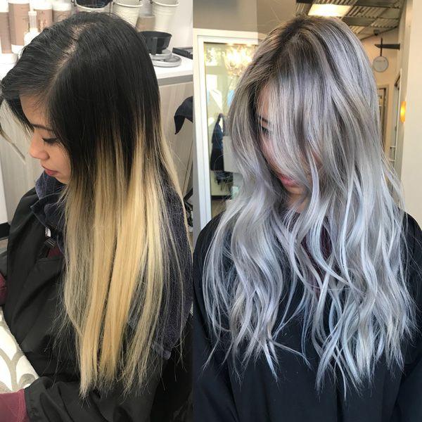 Silver Toned Platinum Haircolor Formula Redken Shades Eq Redken
