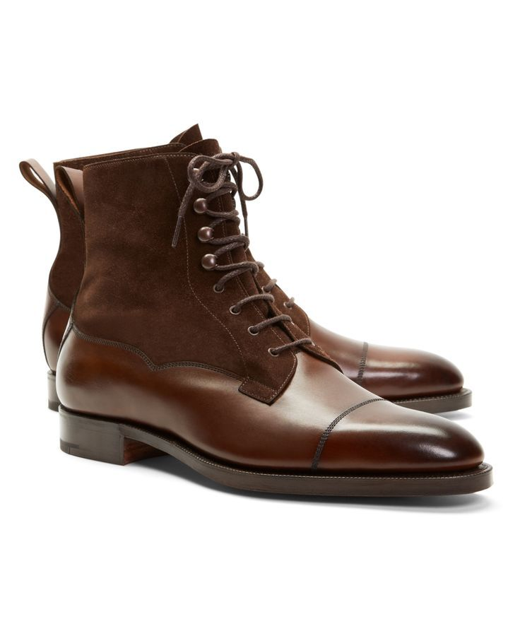 7a05b21cf4e Men s Edward Green Galway Suede and Leather Boots