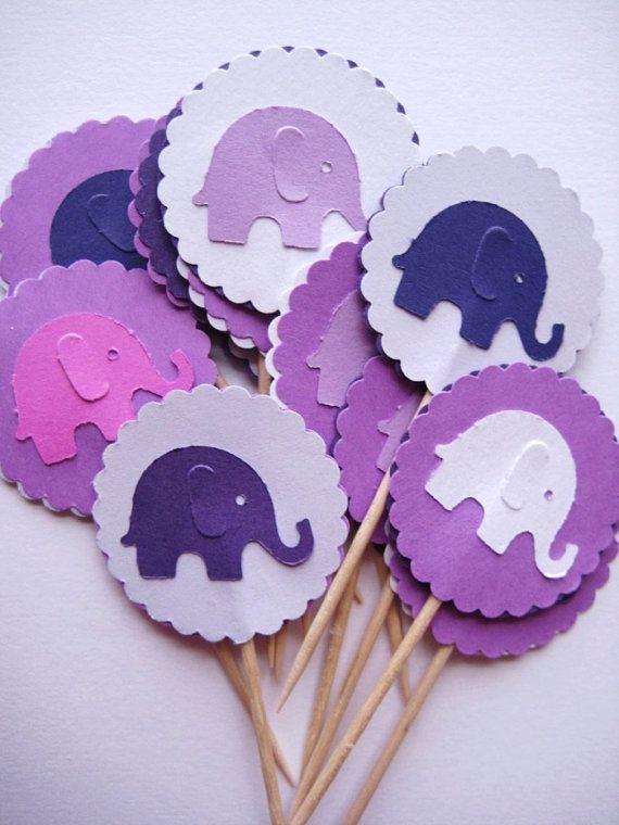 elephant food/cupcake picks