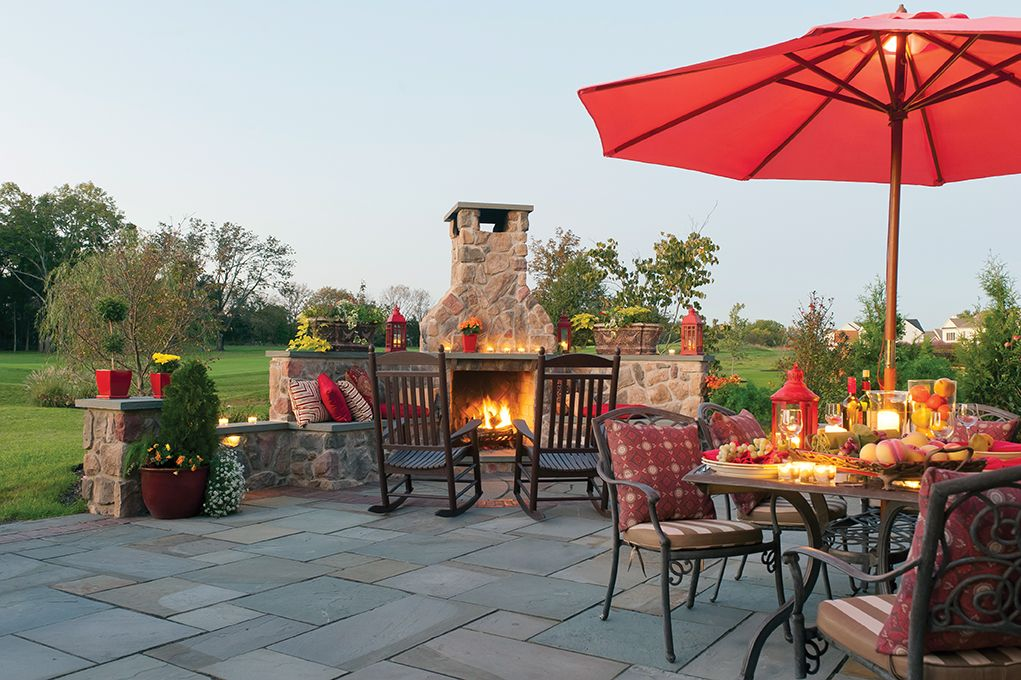 Outdoor Fireplace And Patio   Built By Gasper | Gasper Landscapes /  Richboro, PA | Pinterest | Richboro Pa And Gardens