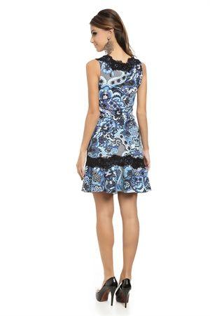 Vestido renda azul iorane