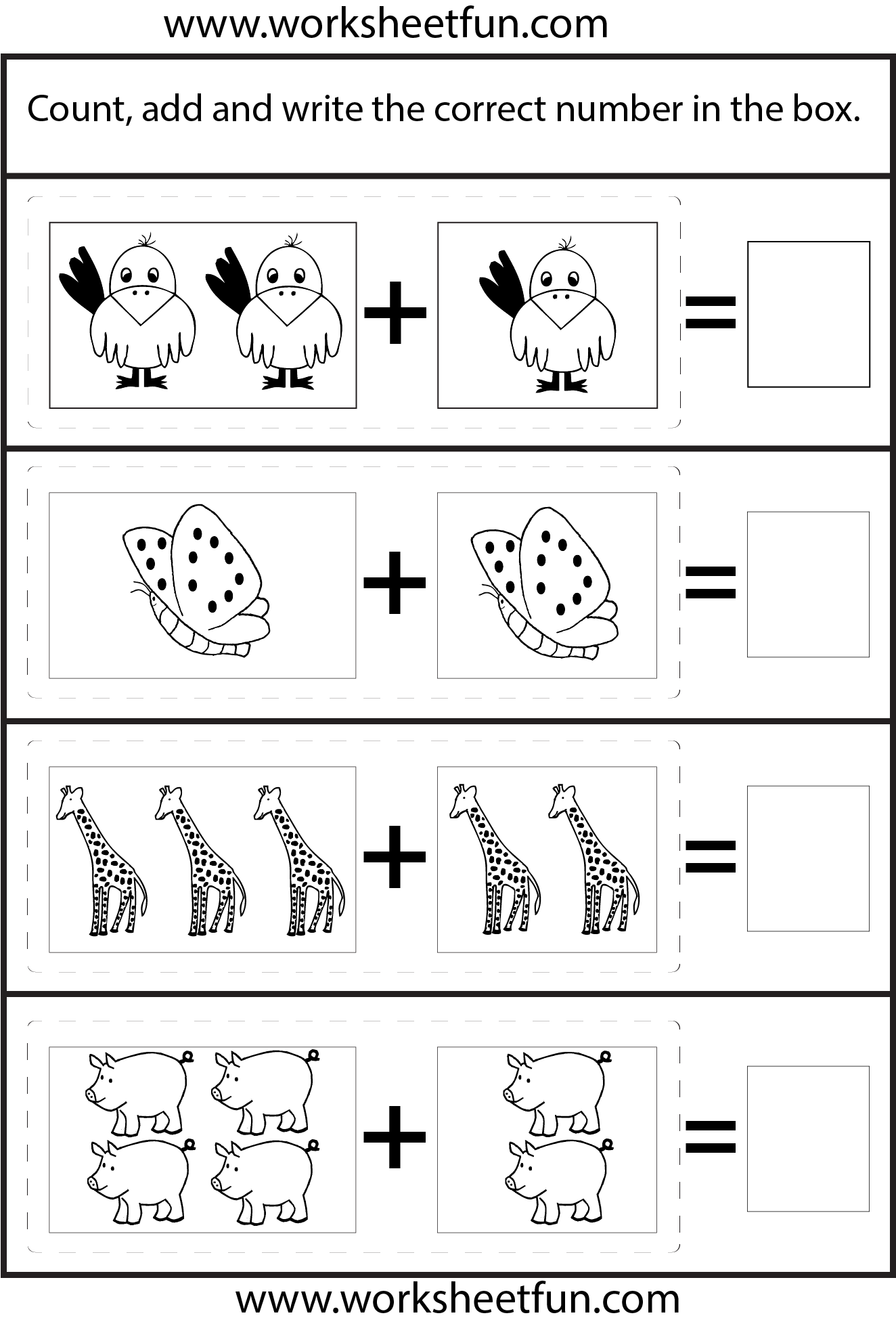 math worksheet : 1000 images about pre school kindergarten on pinterest  : Kindergarten Picture Addition Worksheets