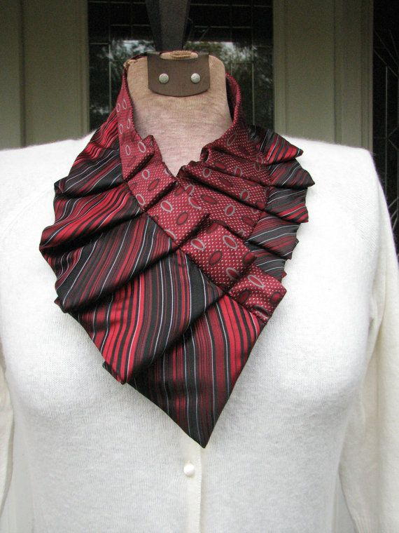 Silk Ascot Silk Necktie Collar Silk Necktie by TieTandem on Etsy ...