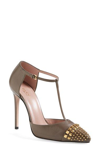 650ef7ff22377 Gucci 'Coline' Studded T-Strap Pump (Women) available at #Nordstrom ...