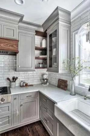26 Beautiful Farmhouse Kitchen Cabinet Makeover Design Ideas Decorationroom Kitchen Remodel Small Kitchen Cabinet Design Kitchen Decor