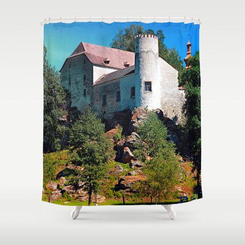 Waldenfels castle, upon the pond Shower Curtain