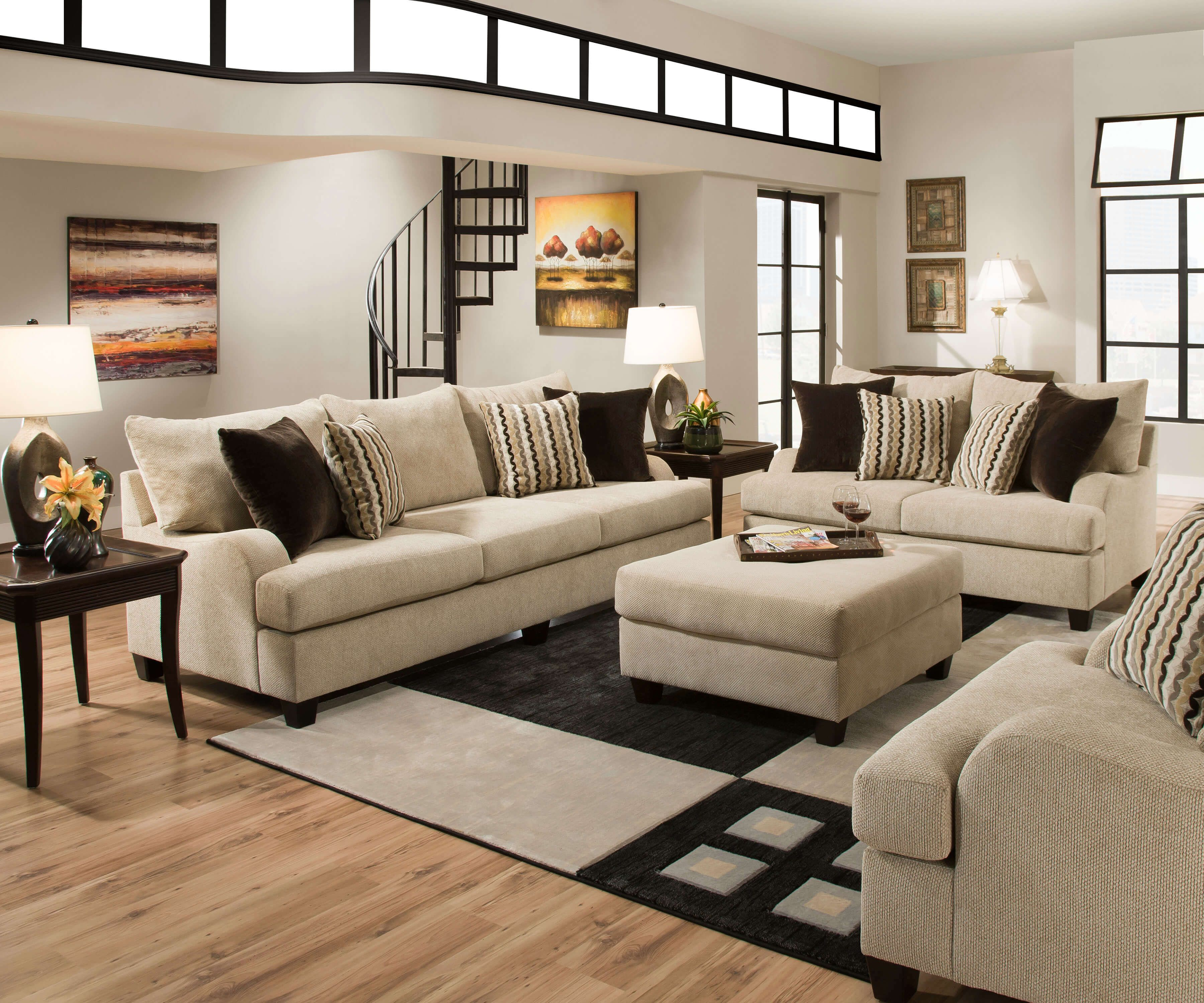 Best 8520 Simmons Trinidad Taupe Living Room Set Discontinued 400 x 300