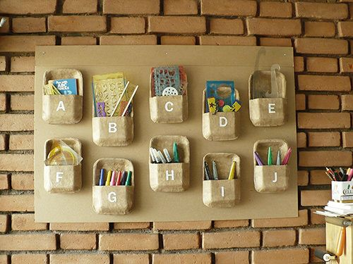Recycled styrofoam wall organizer upcycling hacks pinterest recycled styrofoam wall organizer organizerscraft ideasdiy solutioingenieria Image collections