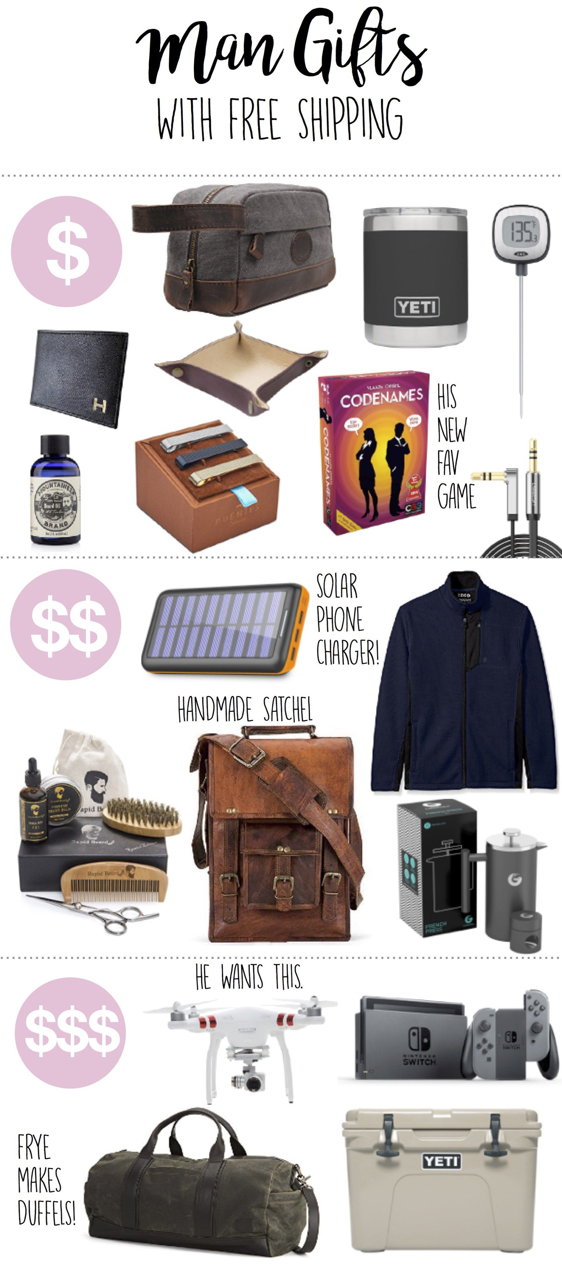 Gift Ideas For Men Boyfriends Husbands Brothers Friends Birthday Gifts For Brother Mens Birthday Gifts Diy Gifts For Men
