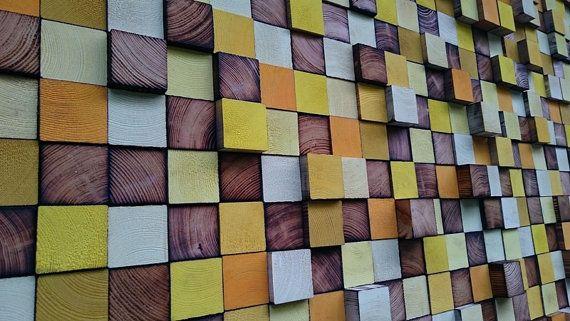 Wall Art - Wood Wall Art - Reclaimed Wood Art Sculpture - Rustic