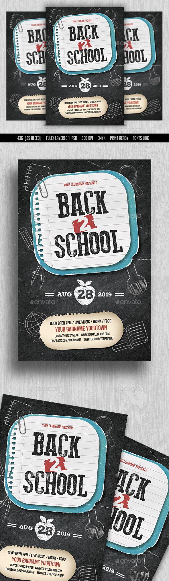 Back to School Flyer | Decoraciones escolares, Anuarios y Folletos