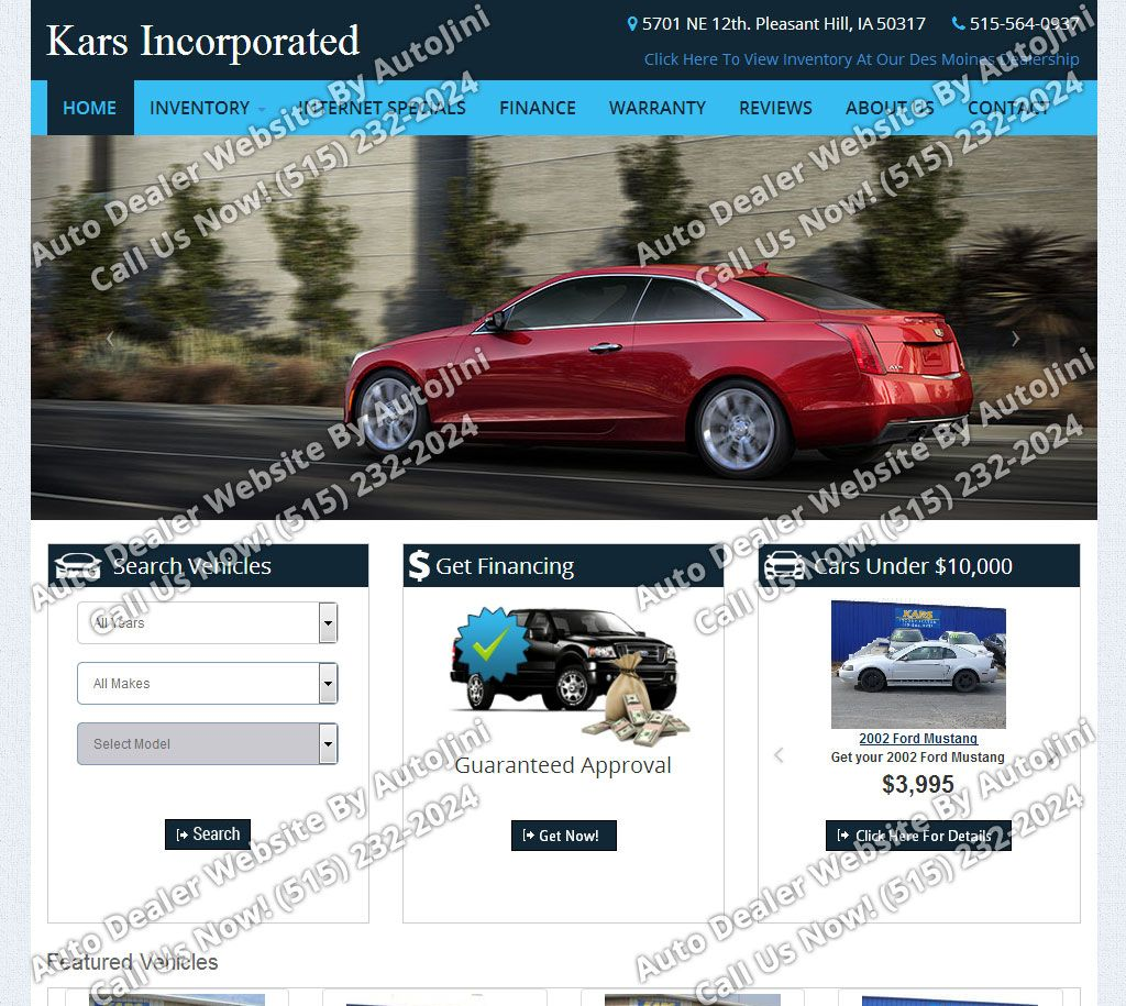 Kars Incorporated WebsiteDesign by For more