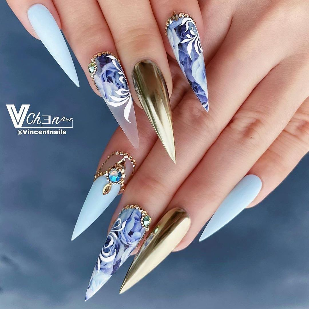 Dippy Cow Nails On Instagram 3 For 2 Decals Using Code Onefree Vincentnails Using My Blue In 2020 Trendy Nail Art Designs Cool Nail Designs Wedding Nails Design