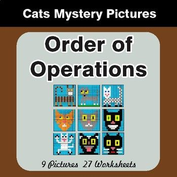 Order of Operations - Color-By-Number Mystery Pictures Negative